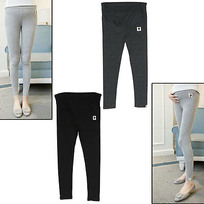Pregnant Women  Maternity Cotton Stretch Legging Tights/Pants Trousers Control