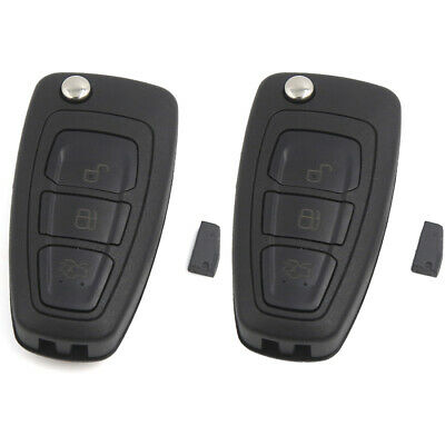 2 Car Flip Key Keyless Entry Remote Control Clicker Transmitter for Ford Mondeo