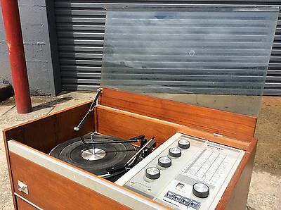 KRIESLER Teak Retro RADIOGRAM Amplifier Tuner Turntable RECORD STORAGE. Project