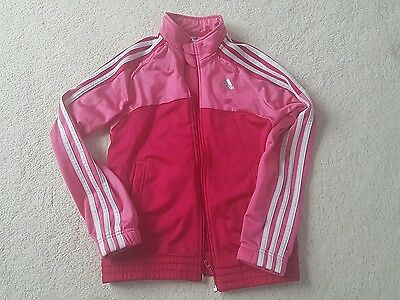 Girls Adidas Tracksuit Top age 9-10 immaculate pink