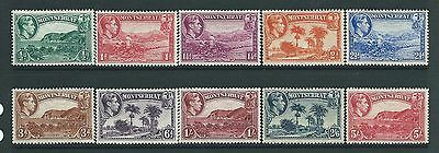 Montserrat SG101-110 1938 Perf 13 Defs to 5/-  (5/- is perf 14) Unhinged Mint