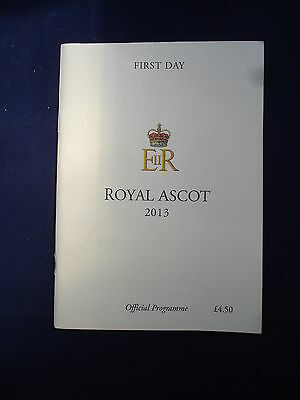 X - Horse racing - Race Card - Royal Ascot - First Day 2013