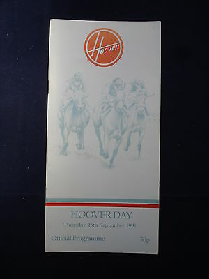 X - Horse racing - Race Card - Ascot - 26 September 1991 - Hoover Day