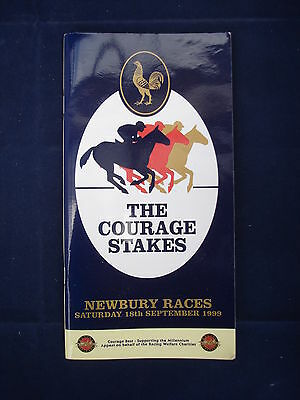 X - Horse racing - Race Card - Newbury - 18 September 1999 - Courage stakes