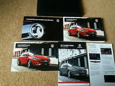 VAUXHALL CORSA E 2013-2016 Owners Manual Handbook & EMPTY SERVICE BOOK w/ Wallet