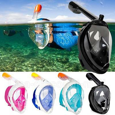 Diving Snorkel Mask Full Face Scuba Snorkelling Set Breath for GoPro Swimming