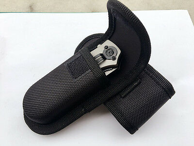 NEW HQ Black Nylon Sheath For Folding Pocket Knife Outdoor Bag Practical Pouch