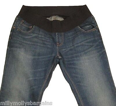 New Womens Blue NEXT Maternity Jeans Size 10 Long