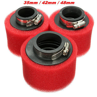 35mm 42mm 48mm Filtro de Aire Moto For GY6 50cc Racing Scooter Bike Dirt Pit ATV