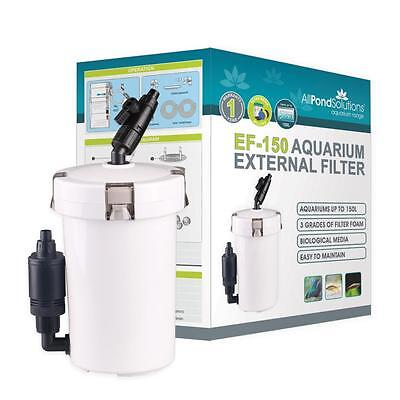 Aquarium Fish Tank External Filter 400L/H Free Media All Pond Solutions EF-150
