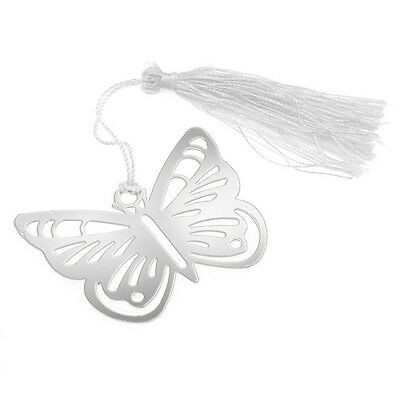 Bookmarks bookmark fringe Butterfly silver stainless steel for books S*