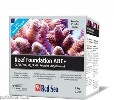 RED SEA REEF FOUNDATION ABC+ ABC + Ca Sr KH Mg K Br I POWDER SUPPLEMENT 1KG