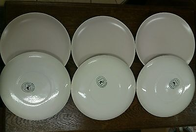 Vintage Poole Pottery Twintone - 6 x  Dinner Plates  -  Mushroom