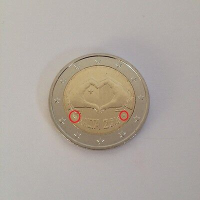 #rm# 2 Euro Commemorative Malte 2016 - Love *mint Mark - Pessac*