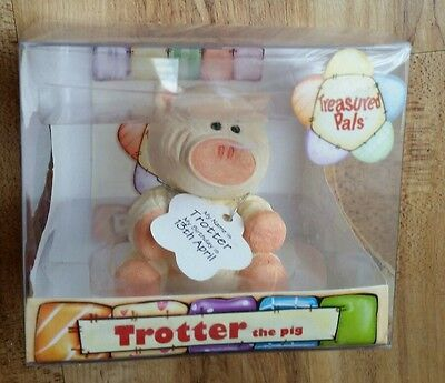 Treasured Pals TROTTER The Pig Birthday 13 April 2004 Collectable Ornament NEW