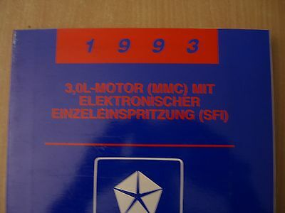 Manuale officina Systemdiagnose Motore 3,0L SFI Dodge Plymouth Chrysler 1993
