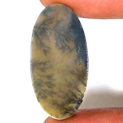 ~Untreated~ 10.95 CTs Natural Designer DENDRITE QUARTZ Oval Cabochon Gemstone