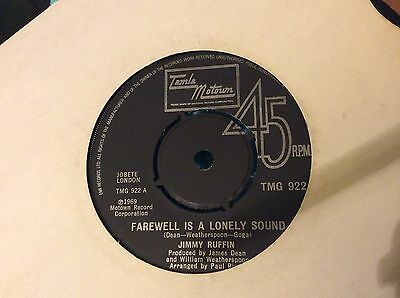 """JIMMY RUFFIN """"FAREWELL IS A LONELY SOUND"""" MOTOWN ORIGINAL VINYL record Ex"""