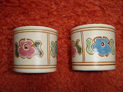 Two Matching Hand-Painted Honiton Pottery Egg Cups