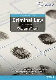 Criminal Law 5th Edition  by William Wilson (paperback)