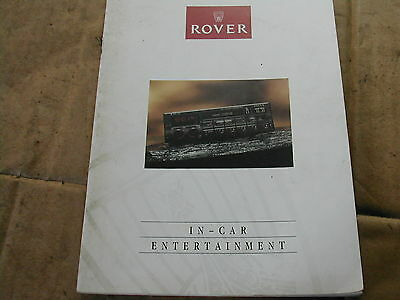 Rover Stereo Radio Cassette,CD, Owners handbook,manual,R652,R750-RDS,R850,R950
