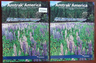 2003-2004 AMTRAK'S AMERICA Lot of 2 Vacation Guide by Train NOS