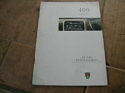 Rover 400 Stereo Radio Cassette, Owners handbook,manual,R760,R860