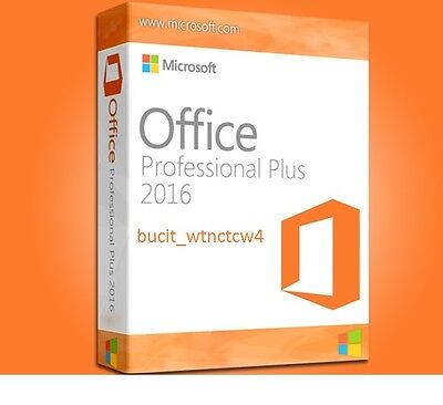 Microsoft Office 2016 Professional Plus 32/64 Bits Download Product Key (1PC)