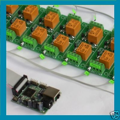 Ethernet / Internet 16 Channel Relay Board: IP, SNMP, iOS / Android Software