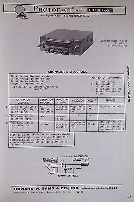 Automatic VP-6228, 1958-67 Volkswagern 1300 Service Manual w Schematic