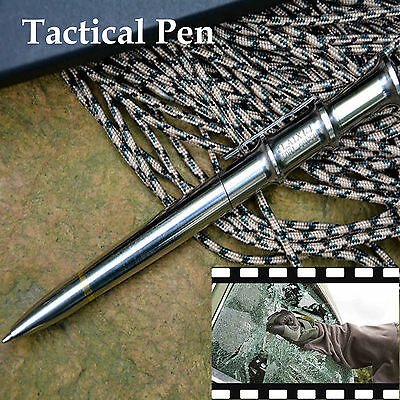 EDC PSK Outdoor Stainless Steel Tactical Self-defense Survival Tool Pen AB01