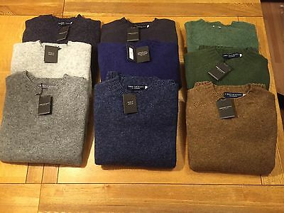 Gents Pure Shetland Sweaters Round Neck made in Scotland