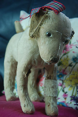 Vintage Antique Old 1930s Dog Teddy Bear Merrythought? Chiltern? Farnell?