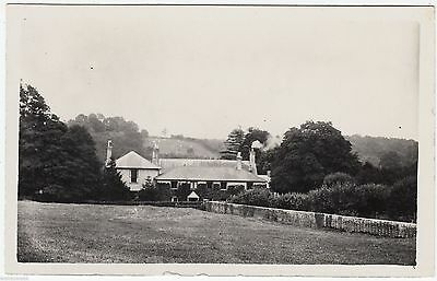 AN UNIDENTIFIED VICARAGE - Message On Back - c1920s era Real Photo postcard