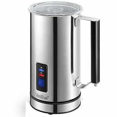 VonShef Premium Stainless Steel Dual Function Electric Milk Frother Warmer NEW