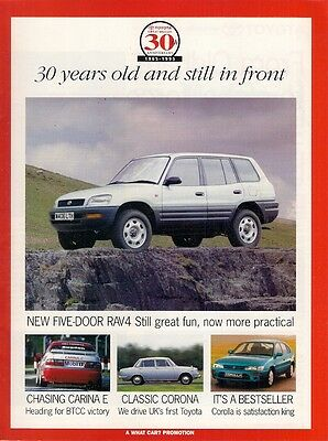 Toyota 30th Anniversary Supplement 1995 UK Market Sales Brochure What Car?