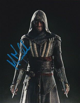 Signed Michael Fassbender 'assassin's Creed' 8X10 Autographed Photo  Coa