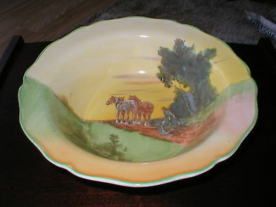 Royal Doulton Fruit Bowl / Dish England Ploughing Scenes Number D5650