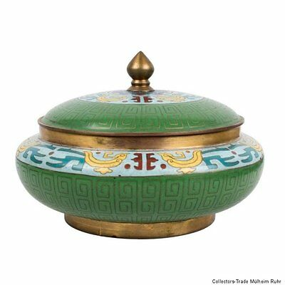 China 20. Jh. Dose - A unusual Chinese Cloisonne Enamel Box - Cinese Chinois