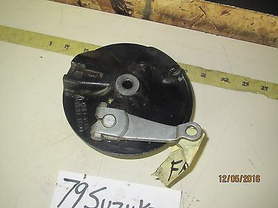 1979 Suzuki Ds80 Ds 80 Oem Front Brake Plate With Shoes