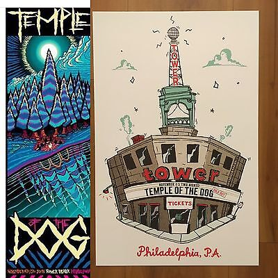 Temple Of The Dog 2 Posters Tower Theater Philly 2016 Soundgarden Pearl Jam