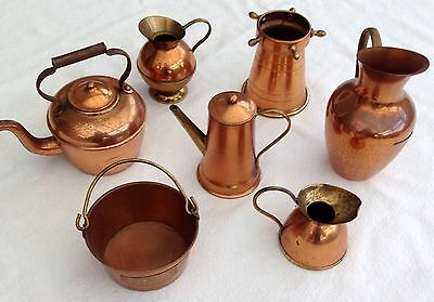 7 x COPPER NOVELTY ITEMS