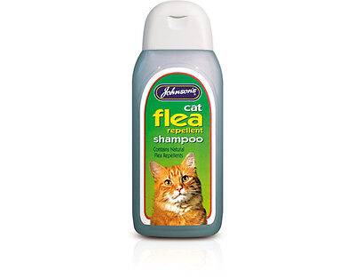 Johnsons Veterinary Cat Flea Cleansing Shampoo125ml