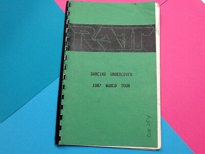RATT DANCING UNDERCOVER 1987 Tour Book Very Rare Only Given To Band & Crew