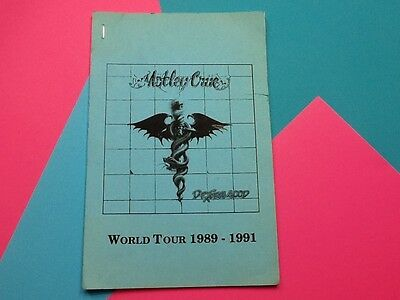 Motley Crue Dr Feelgood JULY AUG Tour Book Very Rare Only Given To Band & Crew