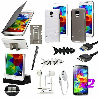 13 PCS Accessory Bundle Case Cover Charger For Samsung Galaxy S5 i9600 i9605