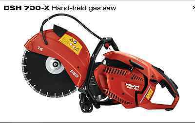 NEW Hilti Gas Saw DSH700-X 14'' hand held Cut Off Saw With Consumables Kit