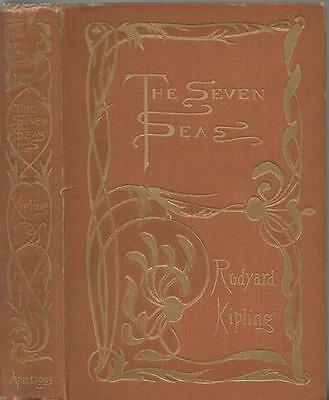 The Seven Seas by Rudyard Kipling First Edition 1897