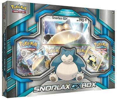 Pokemon Snorlax Gx Box 4 TCG Booster Pack, Foil,& Oversized Trading Card Game