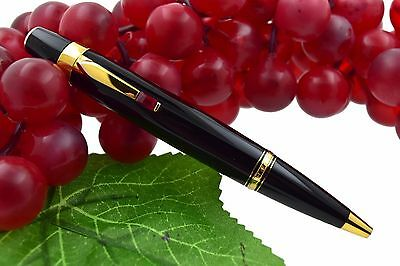 EUC + BOX Montblanc Boheme Rouge Ruby Red Stone & Gold Plated Ballpoint Pen 2760
